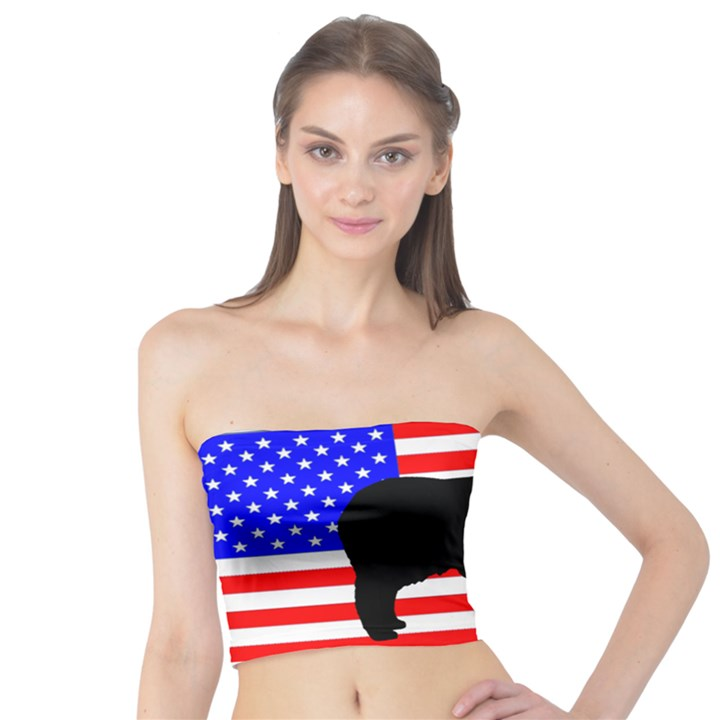 Australian Shepherd Silo Usa Flag Tube Top
