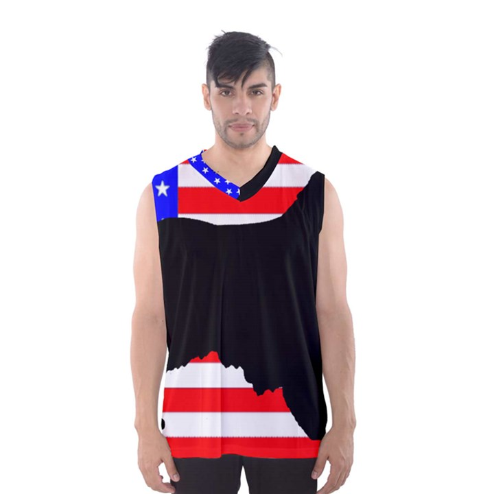 Australian Shepherd Silo Usa Flag Men s Basketball Tank Top
