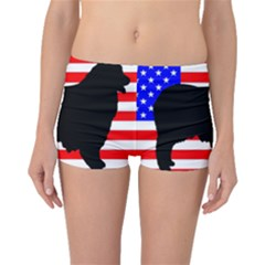 Australian Shepherd Silo Usa Flag Boyleg Bikini Bottoms