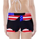 Australian Shepherd Silo Usa Flag Boyleg Bikini Wrap Bottoms View2