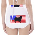 Australian Shepherd Silo Usa Flag High-Waisted Bikini Bottoms View2