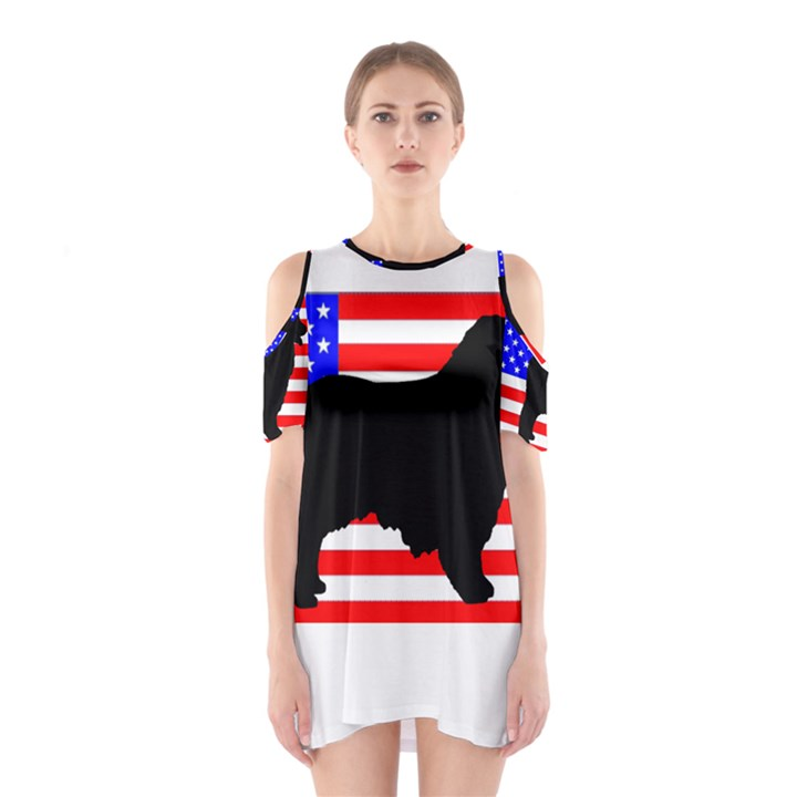Australian Shepherd Silo Usa Flag Cutout Shoulder Dress