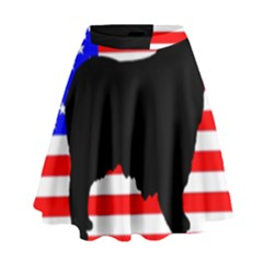 Australian Shepherd Silo Usa Flag High Waist Skirt