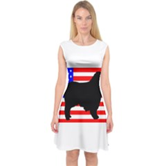 Australian Shepherd Silo Usa Flag Capsleeve Midi Dress
