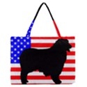 Australian Shepherd Silo Usa Flag Medium Zipper Tote Bag View1