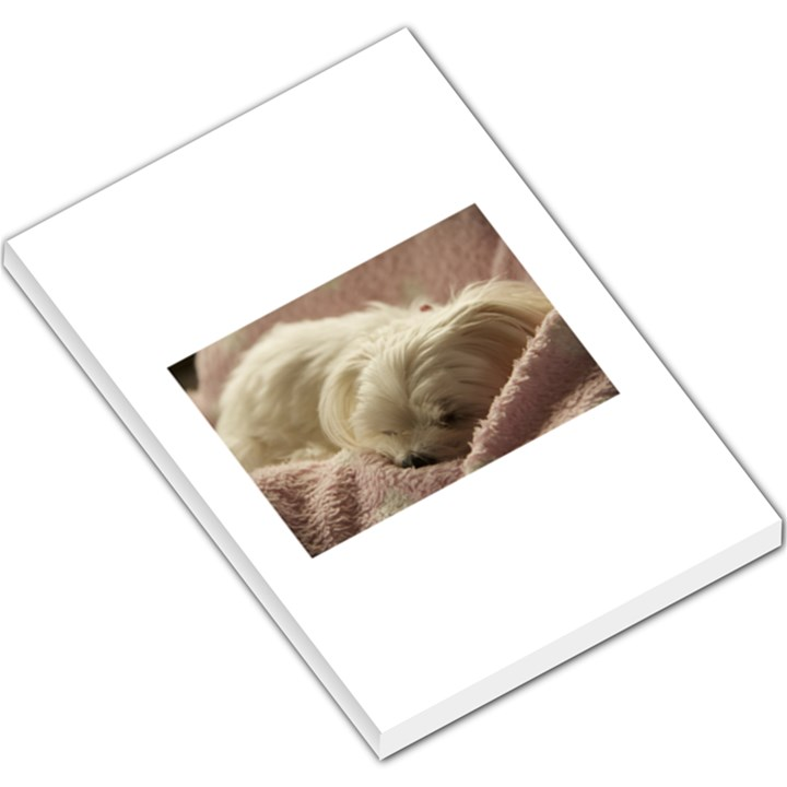 Maltese Sleeping Large Memo Pads