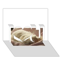 Maltese Sleeping I Love You 3D Greeting Card (7x5)