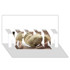 Maltese Sleeping MOM 3D Greeting Card (8x4)