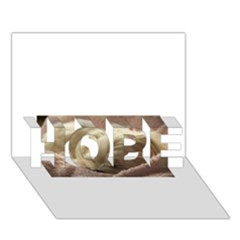 Maltese Sleeping HOPE 3D Greeting Card (7x5)