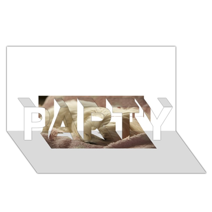 Maltese Sleeping PARTY 3D Greeting Card (8x4)
