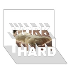 Maltese Sleeping WORK HARD 3D Greeting Card (7x5)