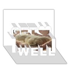 Maltese Sleeping Get Well 3D Greeting Card (7x5)