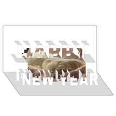 Maltese Sleeping Happy New Year 3D Greeting Card (8x4)