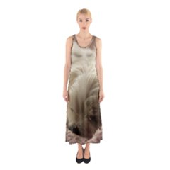 Maltese Sleeping Sleeveless Maxi Dress