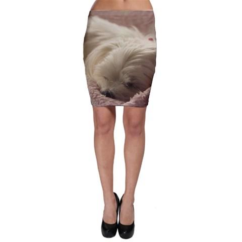 Maltese Sleeping Bodycon Skirt