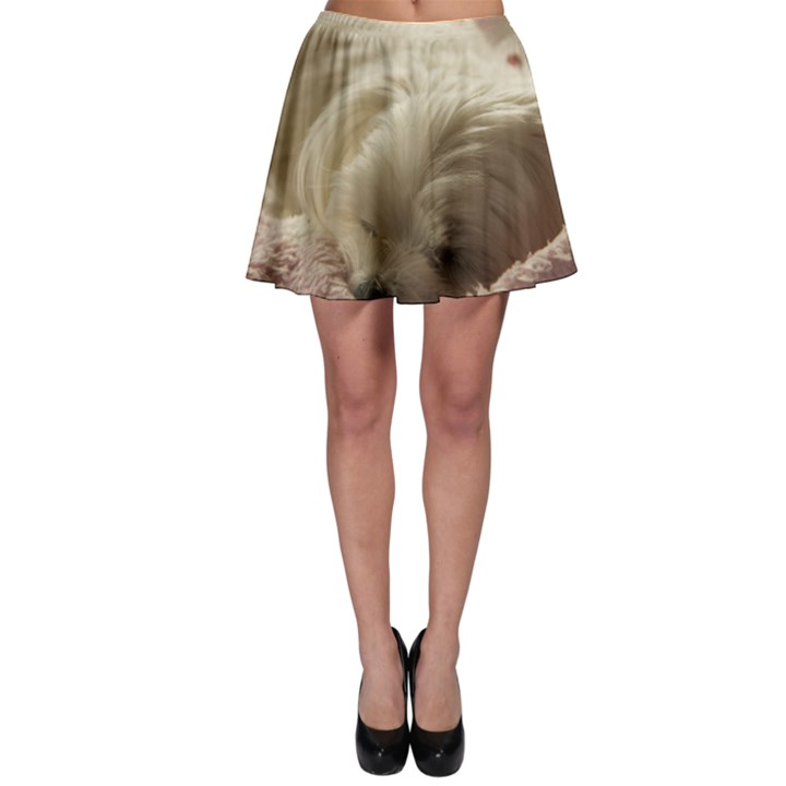 Maltese Sleeping Skater Skirt