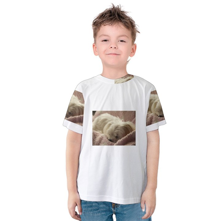 Maltese Sleeping Kids  Cotton Tee
