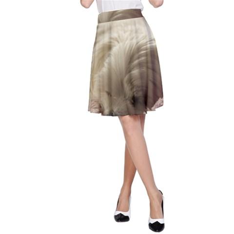 Maltese Sleeping A-Line Skirt