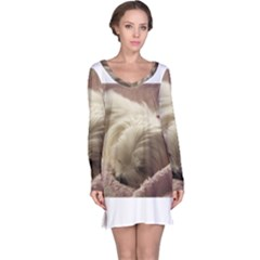 Maltese Sleeping Long Sleeve Nightdress
