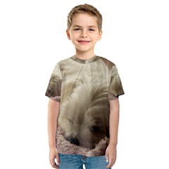 Maltese Sleeping Kids  Sport Mesh Tee