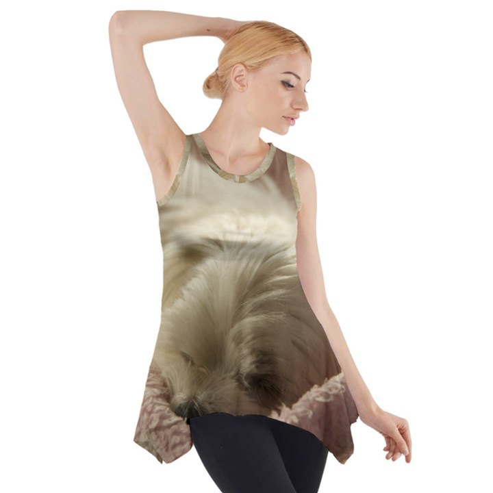Maltese Sleeping Side Drop Tank Tunic