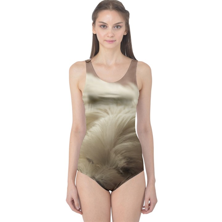 Maltese Sleeping One Piece Swimsuit