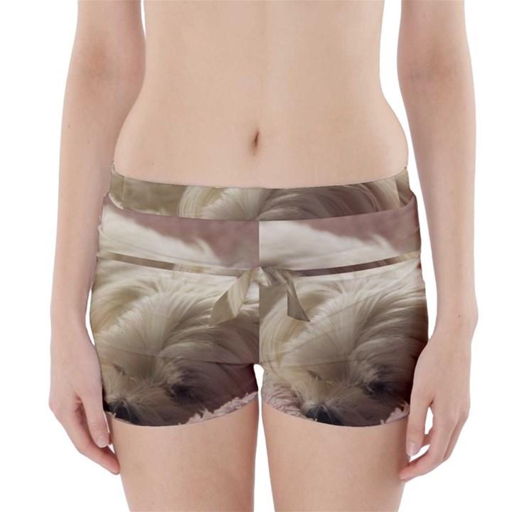 Maltese Sleeping Boyleg Bikini Wrap Bottoms