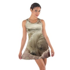 Maltese Sleeping Cotton Racerback Dress