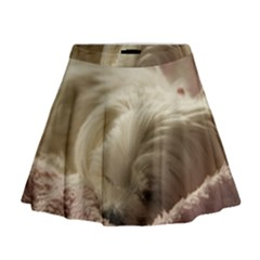 Maltese Sleeping Mini Flare Skirt
