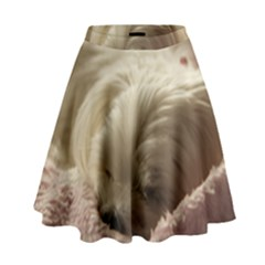 Maltese Sleeping High Waist Skirt