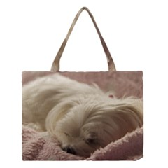 Maltese Sleeping Medium Tote Bag