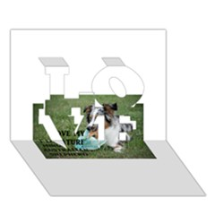Blue Merle Miniature American Shepherd Love W Pic LOVE 3D Greeting Card (7x5)