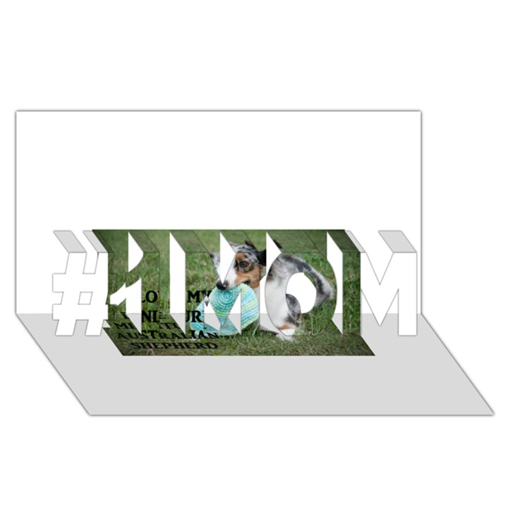 Blue Merle Miniature American Shepherd Love W Pic #1 MOM 3D Greeting Cards (8x4)