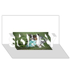 Blue Merle Miniature American Shepherd Love W Pic SORRY 3D Greeting Card (8x4)