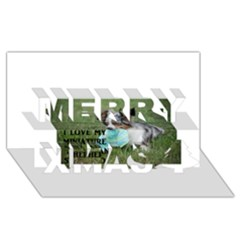 Blue Merle Miniature American Shepherd Love W Pic Merry Xmas 3D Greeting Card (8x4)