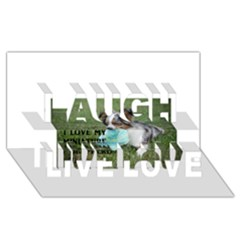 Blue Merle Miniature American Shepherd Love W Pic Laugh Live Love 3D Greeting Card (8x4)
