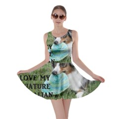 Blue Merle Miniature American Shepherd Love W Pic Skater Dress