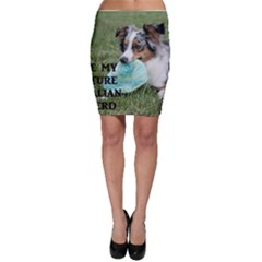 Blue Merle Miniature American Shepherd Love W Pic Bodycon Skirt