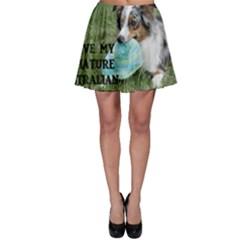 Blue Merle Miniature American Shepherd Love W Pic Skater Skirt