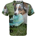 Blue Merle Miniature American Shepherd Love W Pic Men s Cotton Tee View1