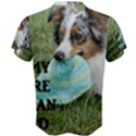 Blue Merle Miniature American Shepherd Love W Pic Men s Cotton Tee View2