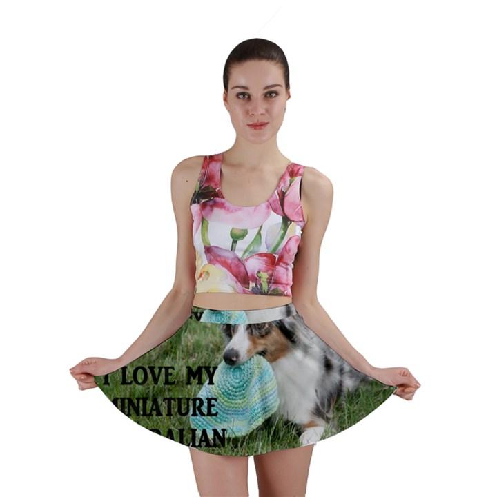 Blue Merle Miniature American Shepherd Love W Pic Mini Skirt