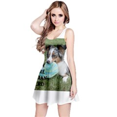Blue Merle Miniature American Shepherd Love W Pic Reversible Sleeveless Dress