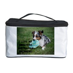 Blue Merle Miniature American Shepherd Love W Pic Cosmetic Storage Case