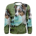Blue Merle Miniature American Shepherd Love W Pic Men s Long Sleeve Tee View1