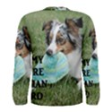 Blue Merle Miniature American Shepherd Love W Pic Men s Long Sleeve Tee View2