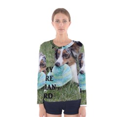 Blue Merle Miniature American Shepherd Love W Pic Women s Long Sleeve Tee
