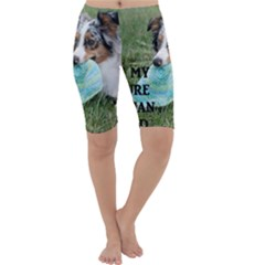 Blue Merle Miniature American Shepherd Love W Pic Cropped Leggings