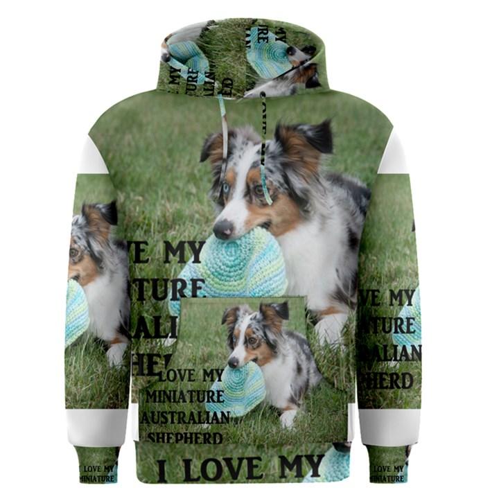 Blue Merle Miniature American Shepherd Love W Pic Men s Pullover Hoodie