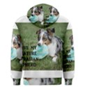 Blue Merle Miniature American Shepherd Love W Pic Men s Pullover Hoodie View2